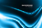 Abstract blue bright business technology colorful wave — Stock vektor