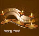 Diwali vector Beautiful illuminating diya bright colorful backgr — Stock Vector