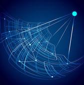 Abstrakte satellit technologie blau bunt vektor — Stockvektor