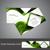 Abstract green colorful wave marketing business card set — Stock Vector