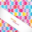 Abstract polygons colorful circle pattern texture background vec - Image vectorielle