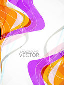 Abstract rainbow business technology colorful wave vector — Vettoriale Stock
