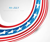 4th july american independence day wave background vector illust — Stock Vector
