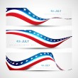 Independence day background three header set Vector illustratio — Stock Vector #25391167