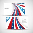 Stock Vector: AmericFlag 4th july business card set design vector