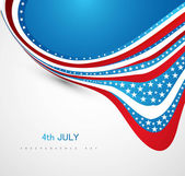 American Flag 4th july american independence day wave vector — Stock Vector