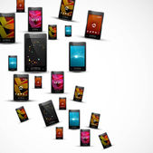 Abstract smart phone or mobile colorful handset presentation wh — Stock vektor