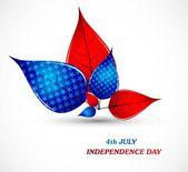 4. juli leben der amerikanischen unabhängigkeitstag weiß-vektor — Stockvektor
