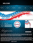 4th of july website template vector illustration — Stock Vector