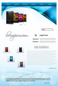 Website template mobile colorful vector illustration — Cтоковый вектор