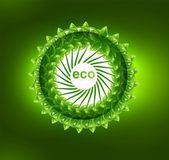 Fond de feuille pour le cercle coloré abstrait éclat vert — Vecteur