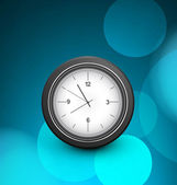 Clock single blue colorful circle background Vector — Stok Vektör