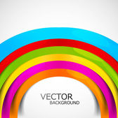 Abstract colorful rainbow circle wave white background vector — Stock Vector