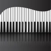 Abstract background with piano keys reflection vector — Stock Vector