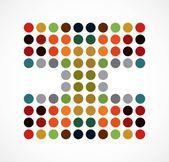 アルファベット多色点線アート スタイル 1 つのテキスト私はベクトルします。 — ストックベクタ