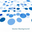 abstract blue circle colorful background vector illustration — Stock Vector