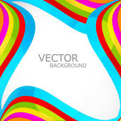 Abstract bright colorful rainbow stylish wave vector — Stock Vector