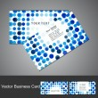 Abstract circle blue bright colorful halftone business card set — Stock Vector #27351635