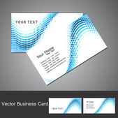 Abstract circle blue wave stylish colorful business card set des — Stock Vector