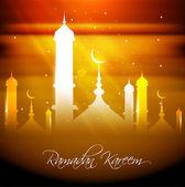 Fantastic ramadan kareem colorful card design vector — Stock Vector
