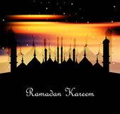 Fantastic bright colorful ramadan kareem vector illustration — Stock Vector