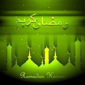 Ramadan kareem beautiful card green background — Stock Vector