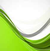 Abstract green colorful line wave technology background vector — Stock Vector
