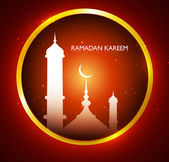 Ramadan kareem beautiful colorful card creative design vector — Stock Vector