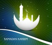 Ramadan kareem greeting card colorful fantastic design vector — Stock Vector