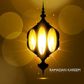 Shiny arabic lamp bright colorful vector background — Stock vektor