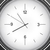 Metallo lucido orologio cronometro elemento grafico sfondo — Vettoriale Stock