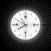 Círculo brillante metal reloj cronómetro elemento gráfico vectorial backgr — Vector de stock