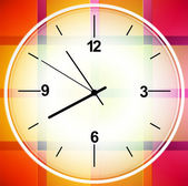 Diseño abstracto colorido reloj cronómetro elemento gráfico vectorial — Vector de stock