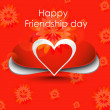 Stock Vector: Happy Friendship day background with red colorful heart design v
