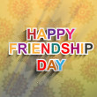 Beutiful Happy Friendship day text background vector — Stockvektor