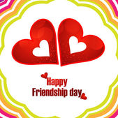 Happy Friendship Day design with hearts vector illustration — Stock Vector