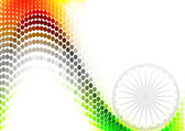 Indian flag dotted stylish wave design vector — Stock Vector