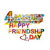 Creative Happy Friendship day stylish text colorful vector — Stock Vector