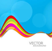 Abstract colorful rainbow stylish presentation wave design vecto — Stock Vector
