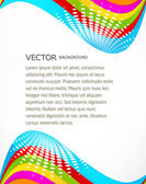 Abstract colorful brochure stylish wave vector design — Cтоковый вектор