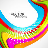 Abstract colorful rainbow stylish wave design — Stock Vector