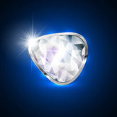 Diamond stone bright blue colorful vector design — Vettoriale Stock