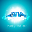 Stock Vector: Happy new year stylish 2014 blue colorful celebration background