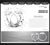 Website template presentation Diamond ring vector design — Stock Vector