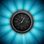 Zegar jedno przedstawienie niebieski wirowa kolorowy koło tło — Wektor stockowy