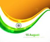 Indian flag fantastic tricolor wave vector illustration — Stock Vector