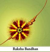 Raksha bandhan beautiful celebration colorful design — Stock Vector