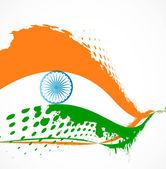 Fantastic stylish tricolor indian grunge flag vector illustratio — Stock Vector