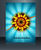 Celebration Raksha Bandhan festival colorful Brochure reflectio — Vector de stock