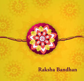 Beautiful raksha bandhan bright colorful background — Stock Vector